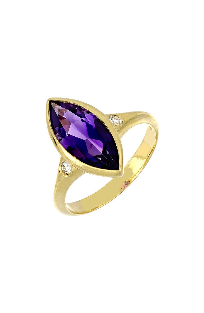 BONY LEVY Marquise Amethyst Ring, Main, color, YELLOW GOLD/ AMETHYST