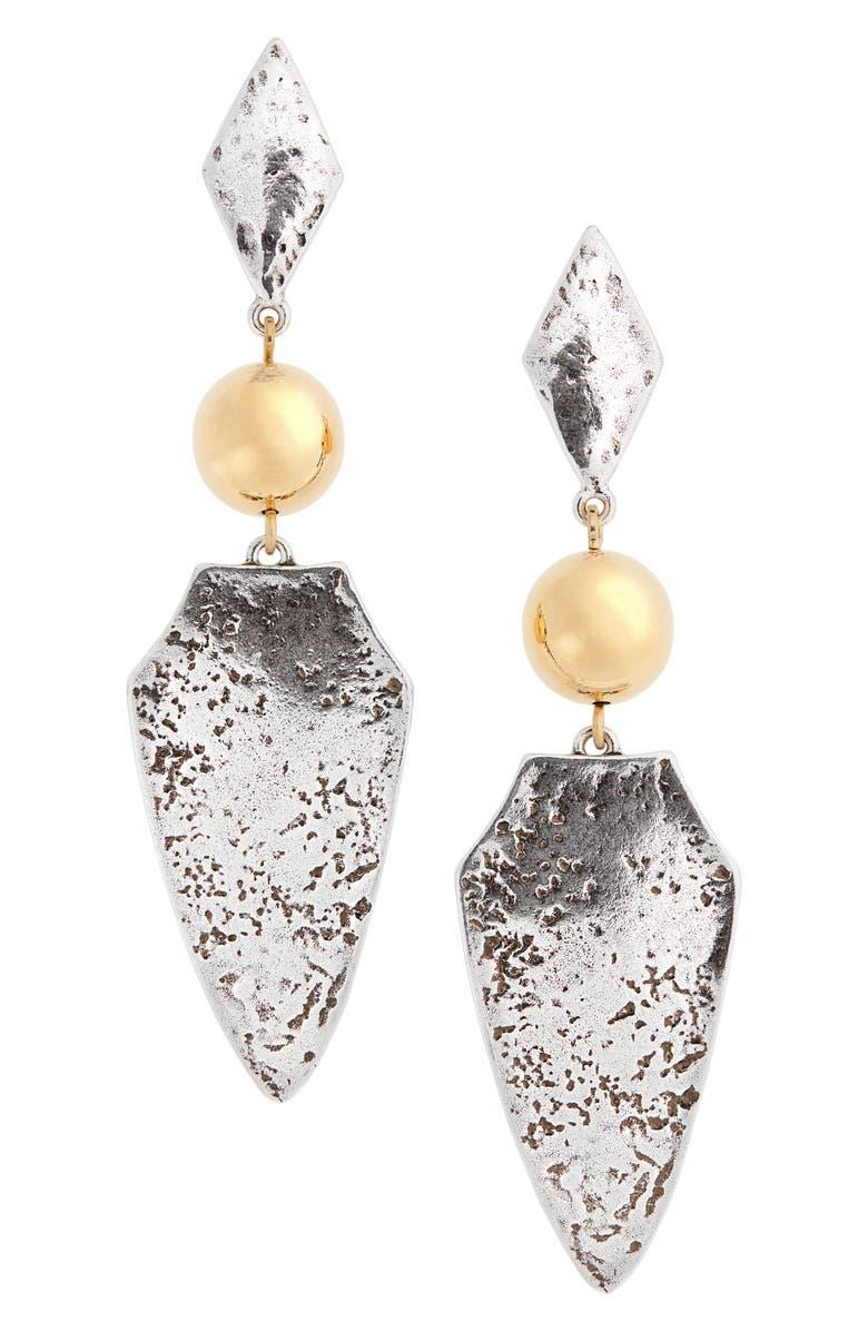 ISABEL MARANT Bouclé D'Oreille Drop Earrings, Main, color, SILVER