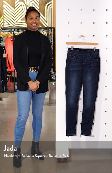Maya High Waist Pull-On Skinny Jeans, sales video thumbnail