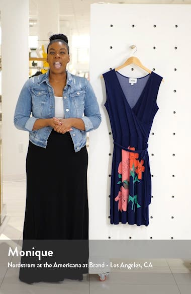 Floral Faux Wrap Dress, sales video thumbnail