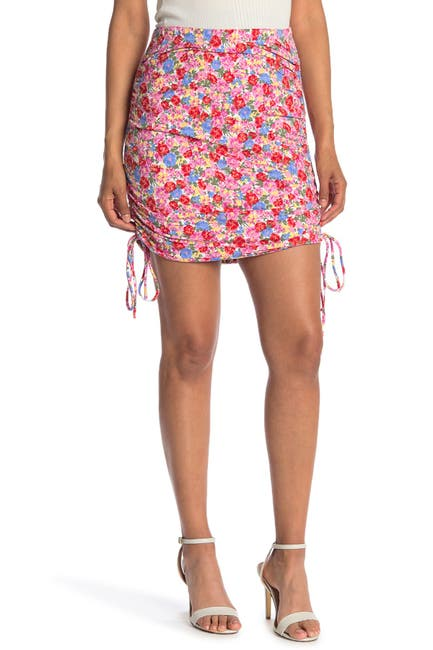 Image of WAYF Ruched Mini Skirt