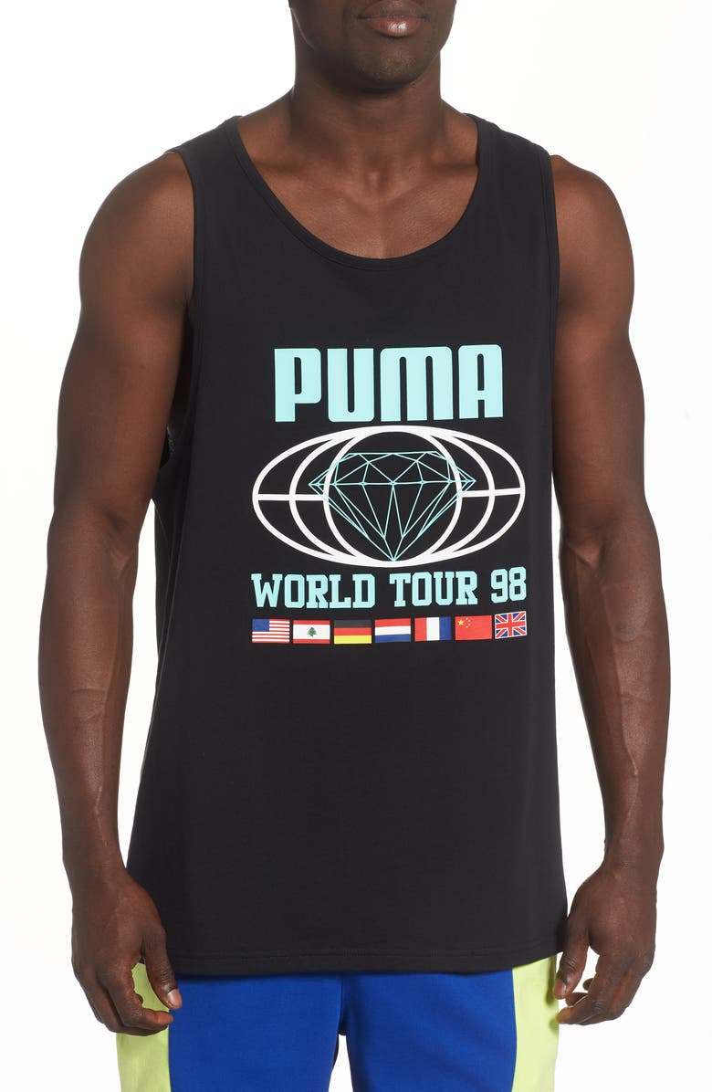 PUMA x Diamond Supply Co. Graphic Tank, Main, color, PUMA BLACK