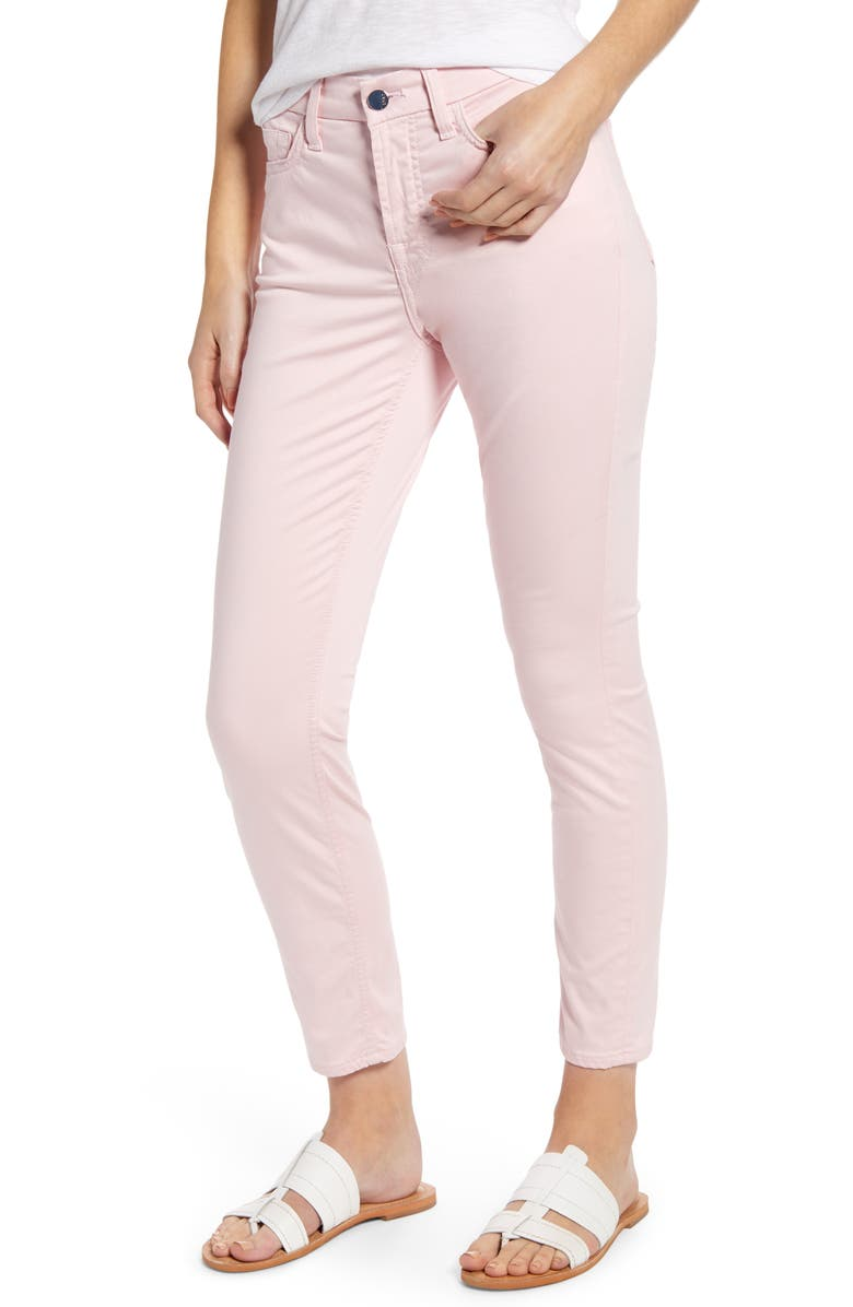 JEN7 BY 7 FOR ALL MANKIND Sateen Ankle Skinny Jeans, Main, color, PALE PINK