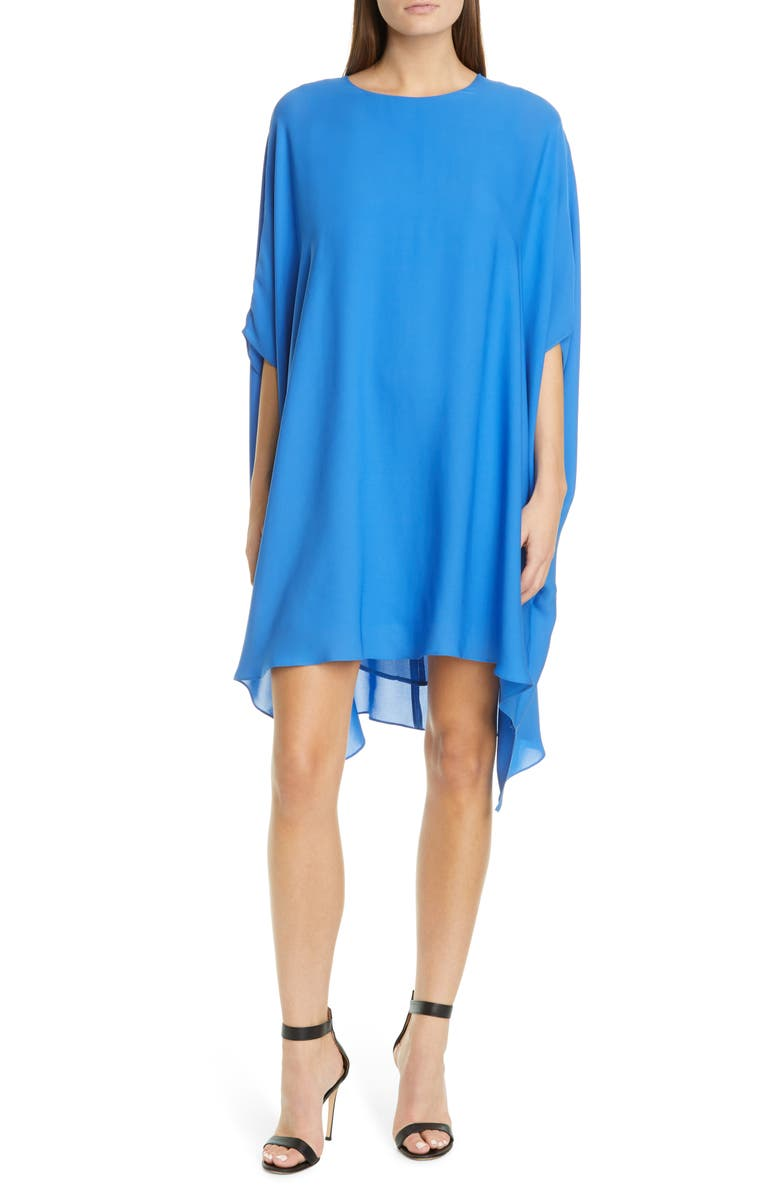 ST. JOHN COLLECTION Draped Silk Georgette Dress, Main, color, OASIS