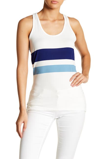 Image of Poof Stripe Racerback Tank Top