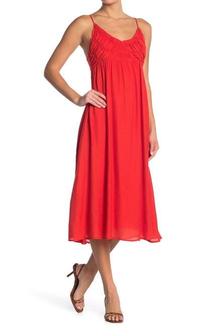 Image of Lush Gathered Detailed Midi Dress