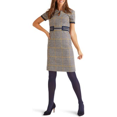 Boden Bridget Tweed Wool Dress, Blue