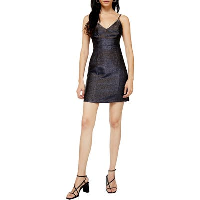 Topshop Sparkle Minidress, US (fits like 14) - Black