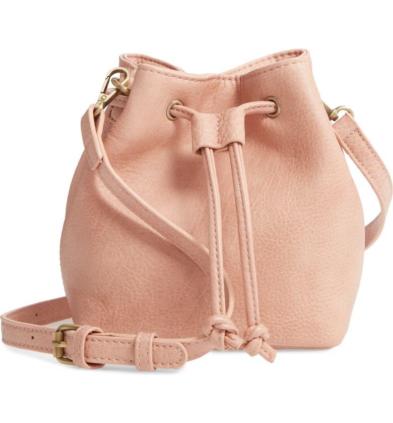 BP. Drawstring Crossbody Bag, Main, color, PINK ROSECLOUD