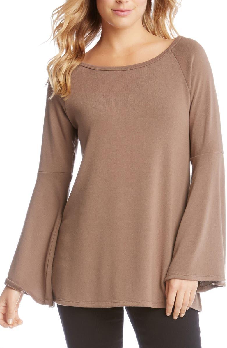 KAREN KANE Bell Sleeve Sweater, Main, color, 234