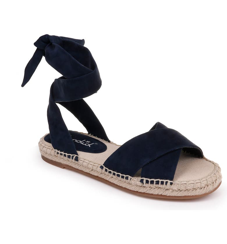 SPLENDID Tereza Ankle Wrap Sandal, Main, color, NAVY SUEDE