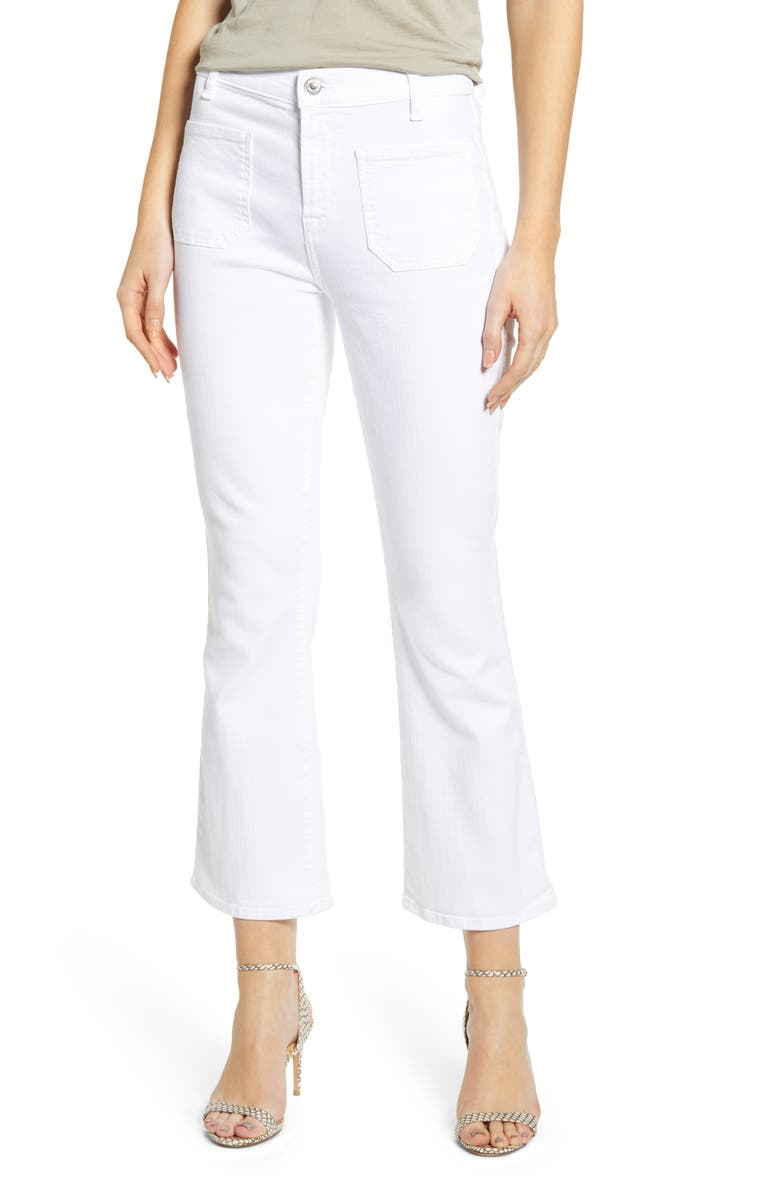 7 FOR ALL MANKIND<SUP>®</SUP> High Waist Slim Kick Jeans, Main, color, 101