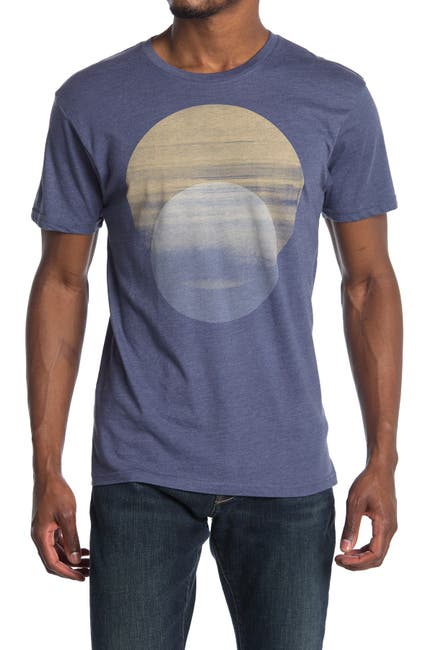 Image of Vestige Midnight Circle Graphic Crew Neck T-Shirt