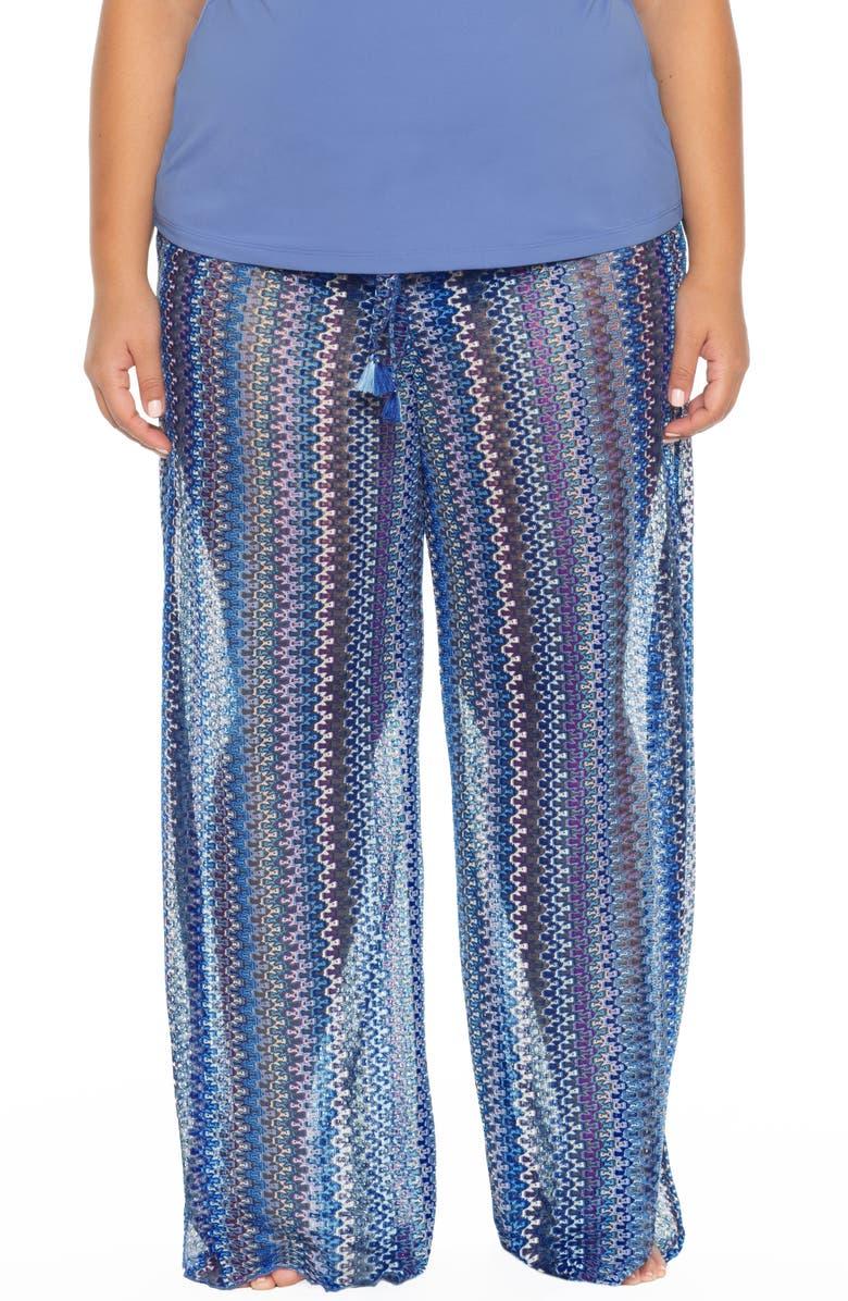 BECCA ETC. Pierside Cover-Up Flyaway Pants, Main, color, 400