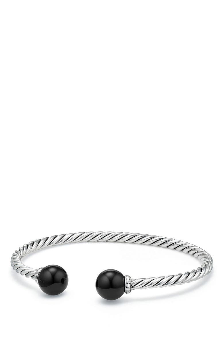 DAVID YURMAN Solari Bead Bracelet with Diamonds, Main, color, SILVER/ DIAMOND/ BLACK ONYX