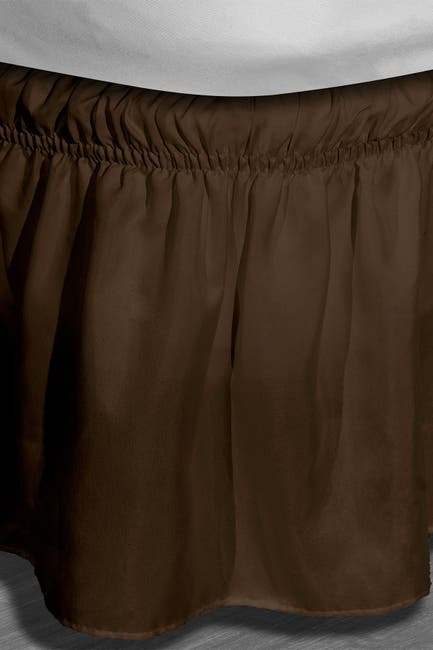 Image of Duck River Textile Twin/Full Waldorf Microfiber Bed Ruffle Skirt - Chocolate