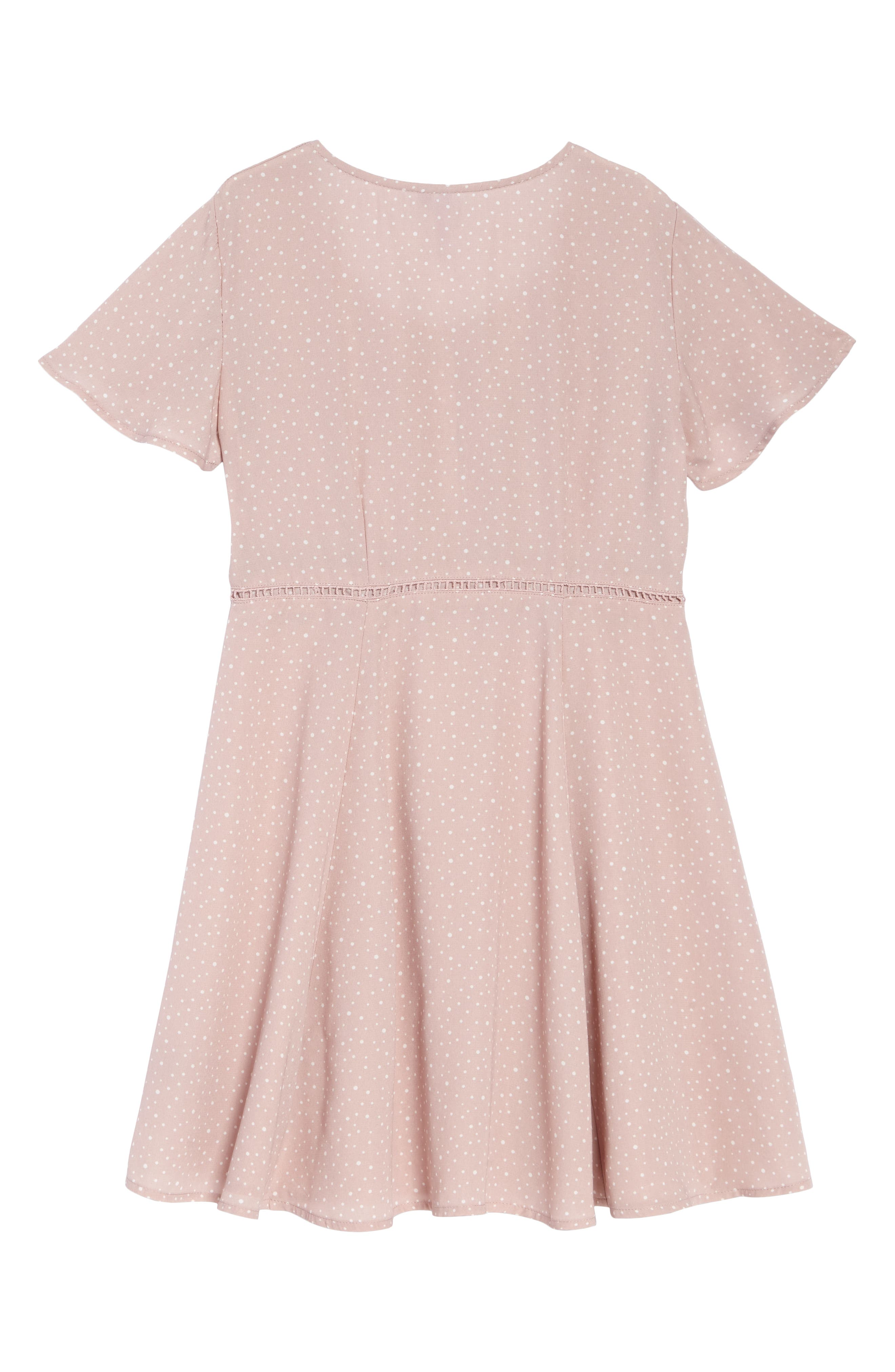 ,                             Flutter Sleeve Dress,                             Alternate thumbnail 2, color,                             PINK