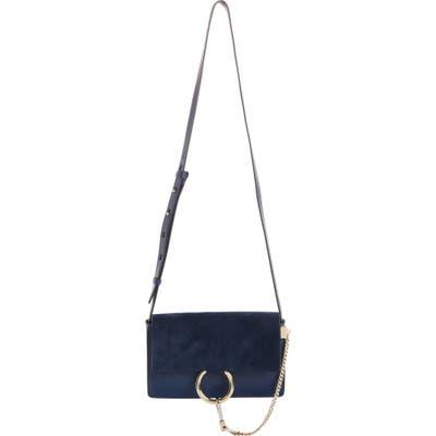 Chloe Small Faye Leather Crossbody Bag - Blue