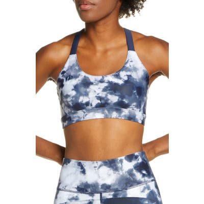 Soul By Soulcycle Tie Dye Sports Bra, Blue