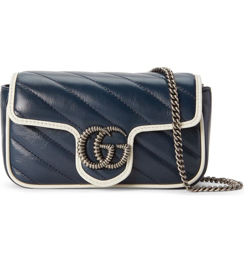 Super Mini Gg Marmont Quilted Leather Shoulder Bag by Gucci