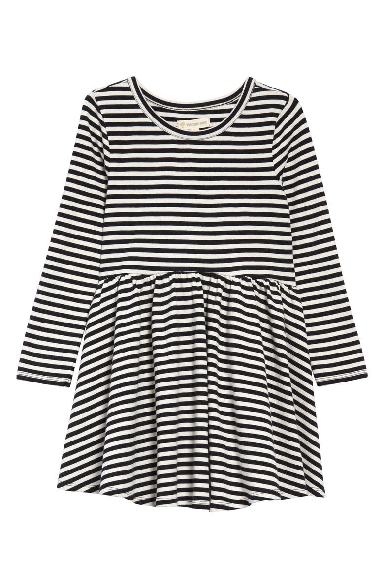 TUCKER + TATE Stripe Long Sleeve Dress, Main, color, 001