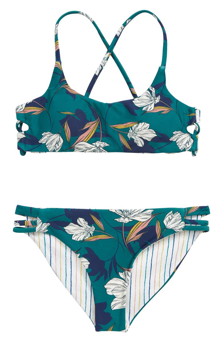 O'NEILL Bridget Reversible Two-Piece Swimsuit, Main, color, SEAGREEN