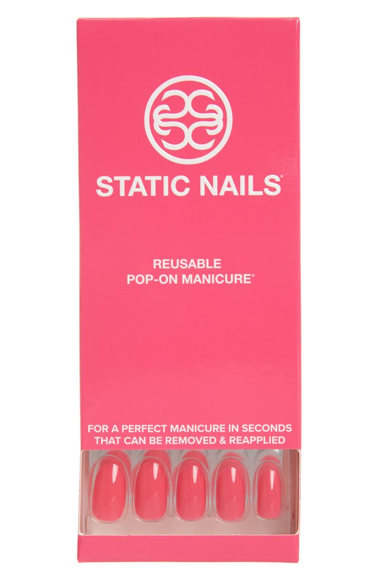 STATIC NAILS Perfect in Pink Pop-On Reusable Manicure Set, Main, color, 650