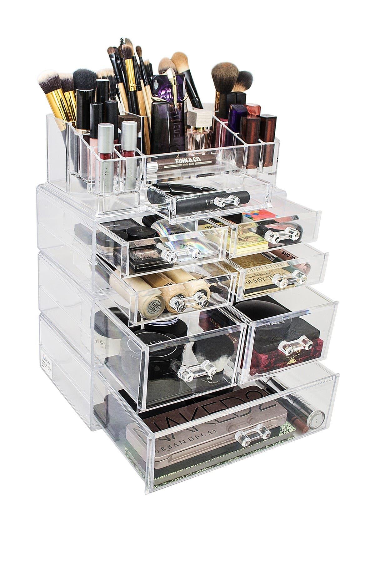 Image of Sorbus Acrylic 4 Level Cosmetics Makeup & Jewelry Storage Case Display Set