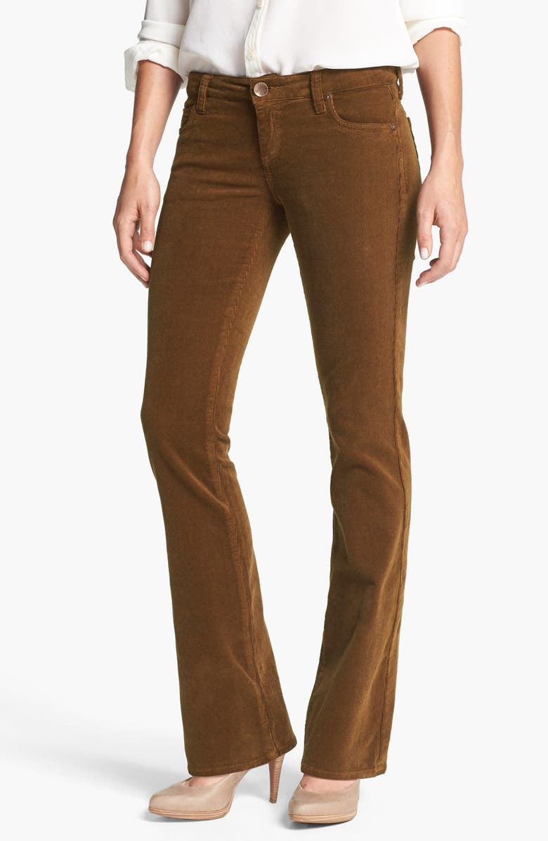 KUT FROM THE KLOTH Baby Bootcut Corduroy Jeans, Main, color, COGNAC