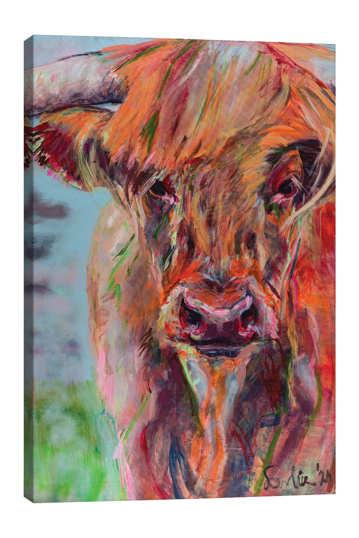 Image of iCanvas Scottish Highlander by Liesbeth Serlie Wall Art