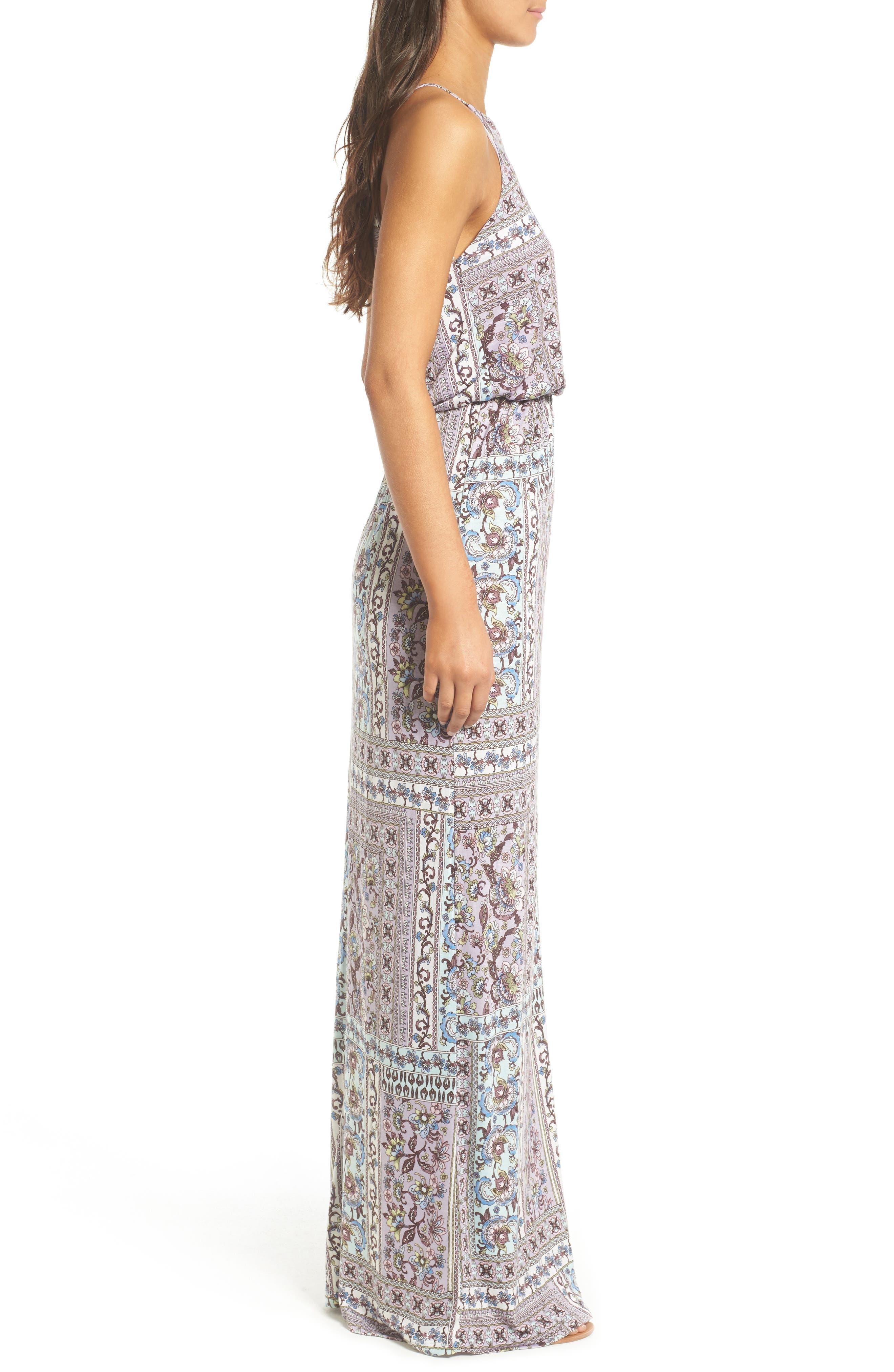 ,                             High Neck Maxi Dress,                             Alternate thumbnail 43, color,                             020