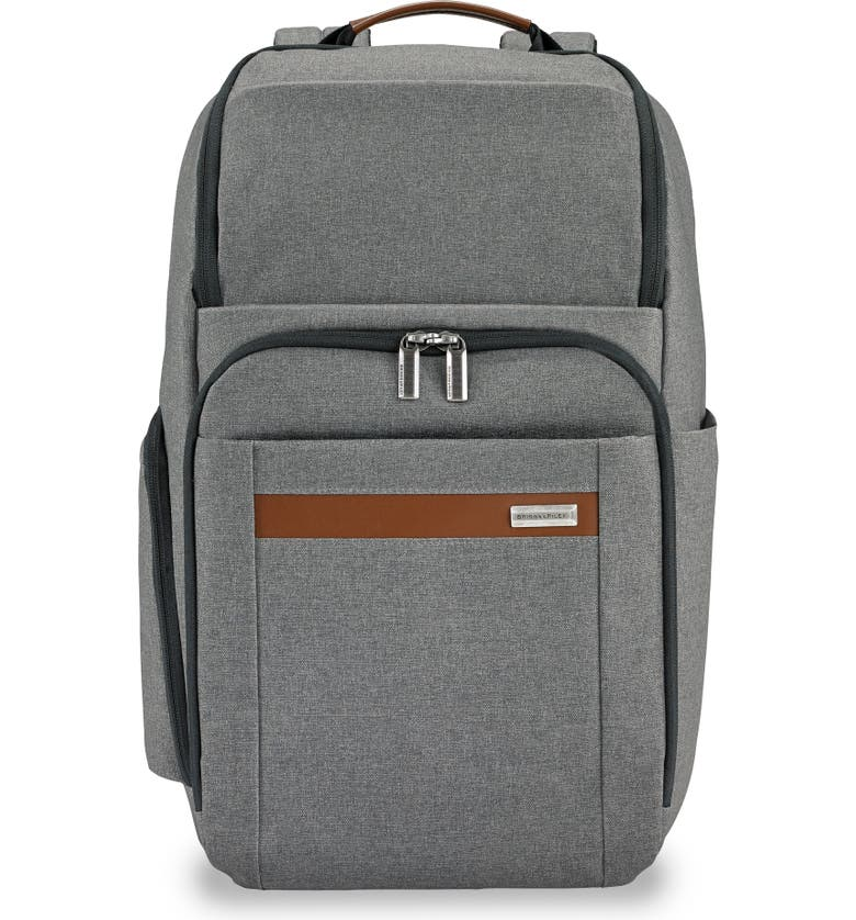 BRIGGS & RILEY Large Kinzie Street RFID Pocket Laptop Backpack, Main, color, GREY