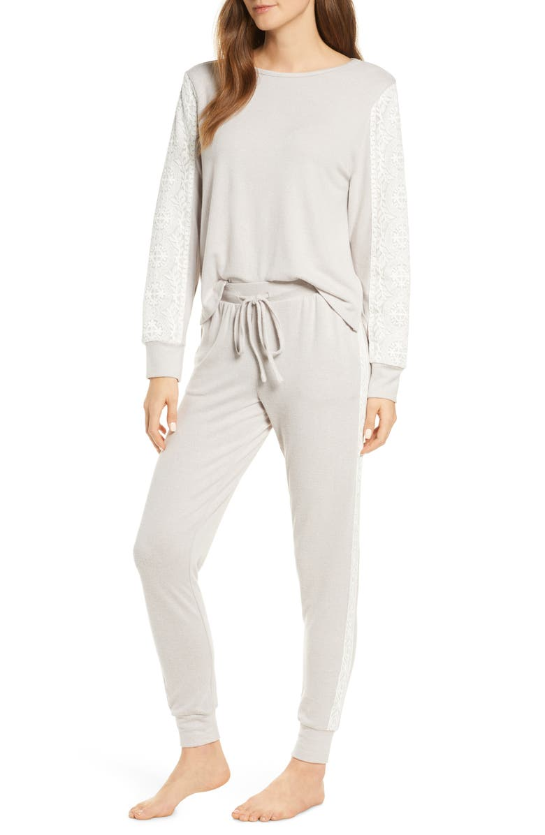 FLORA NIKROOZ Harbor Pajamas, Main, color, GREY