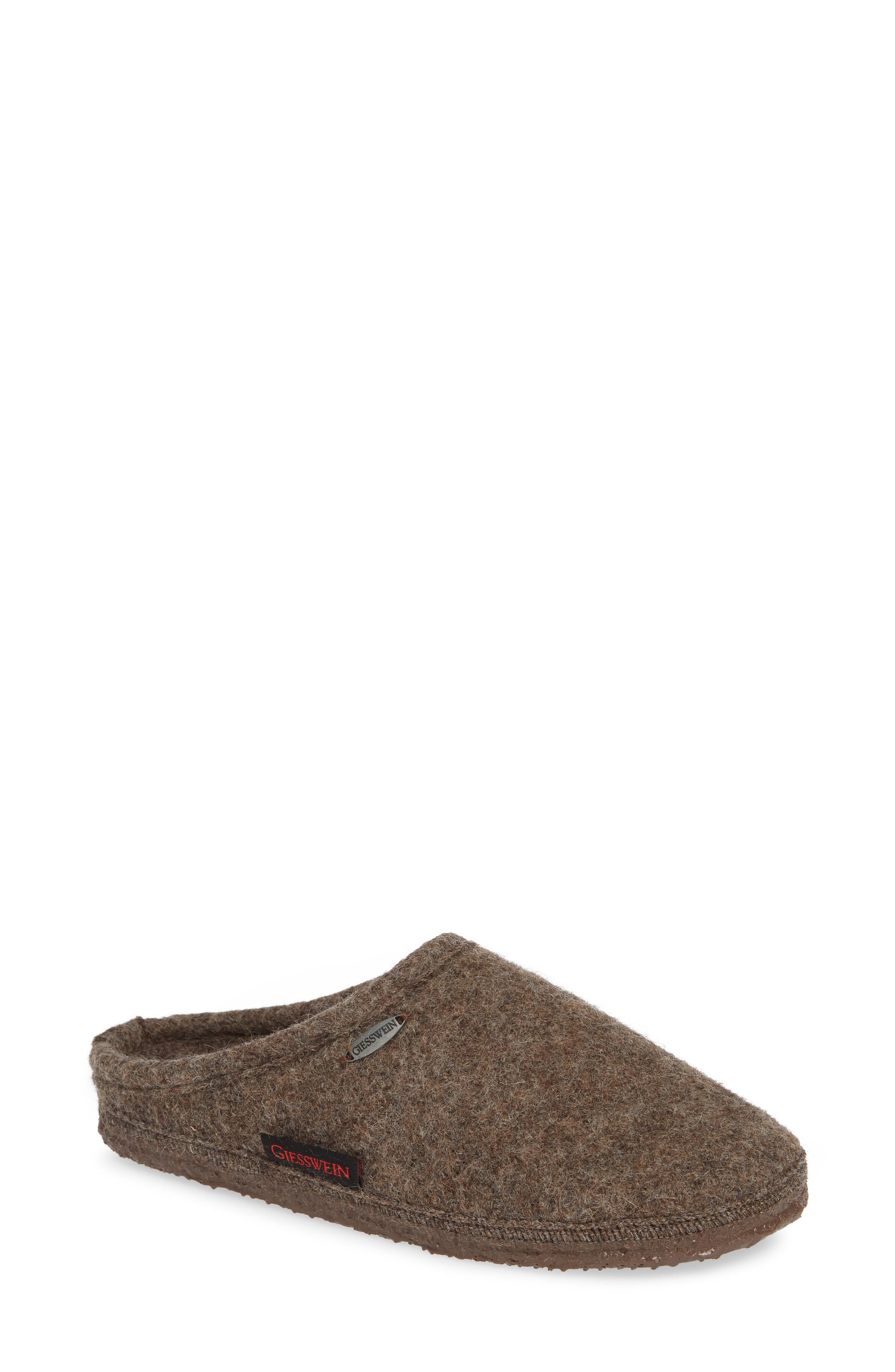 ,                             Abend Boiled Wool Slipper,                             Main thumbnail 1, color,                             TAUPE WOOL