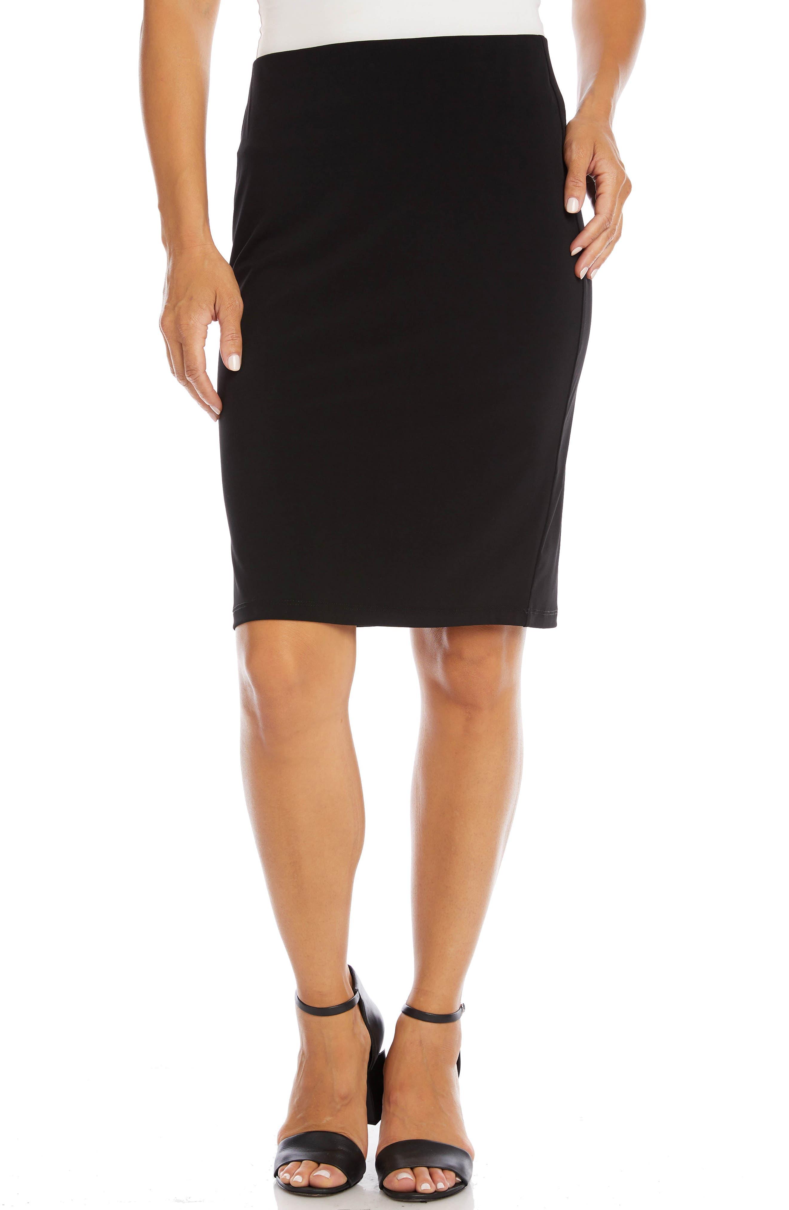 Travel Jersey Pencil Skirt
