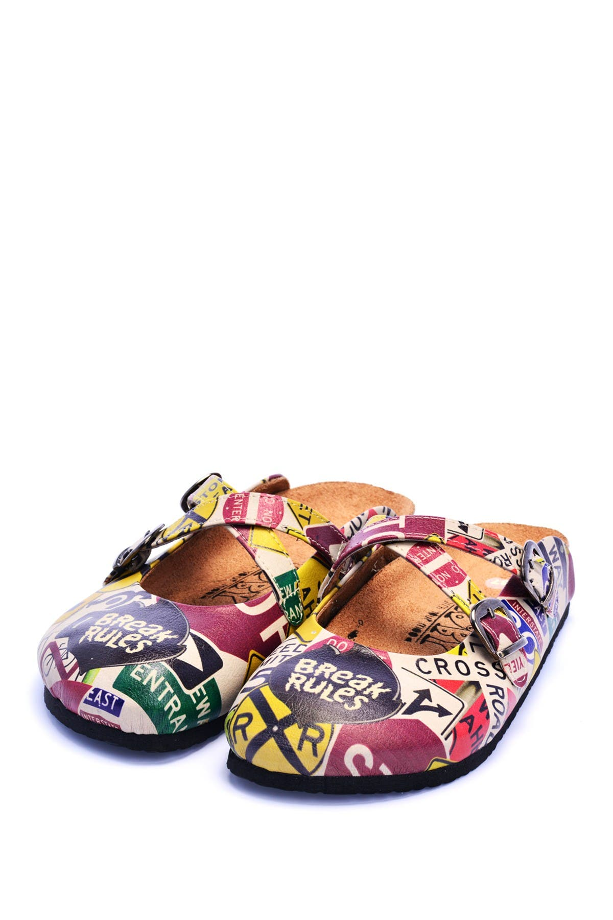 Image of Goby Printed Faux Leather Clog