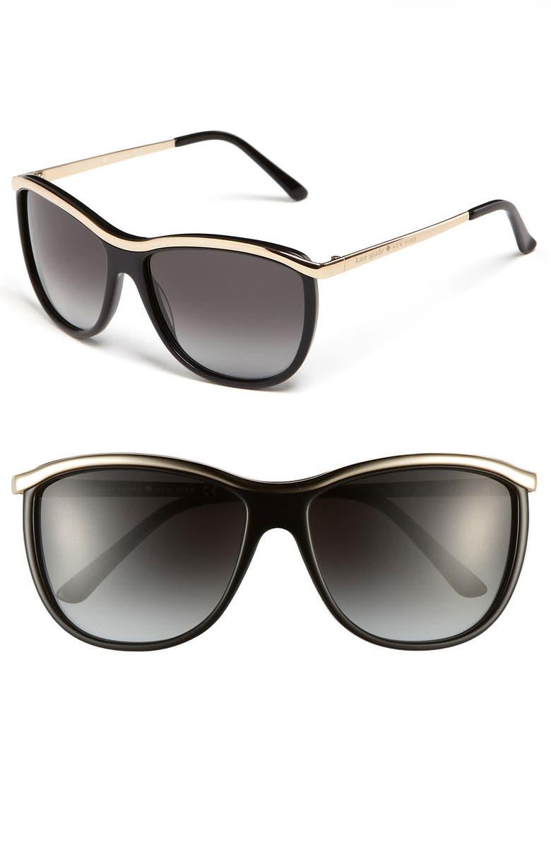 d447794286db kate spade new york 'domina' 57mm retro sunglasses | Nordstrom