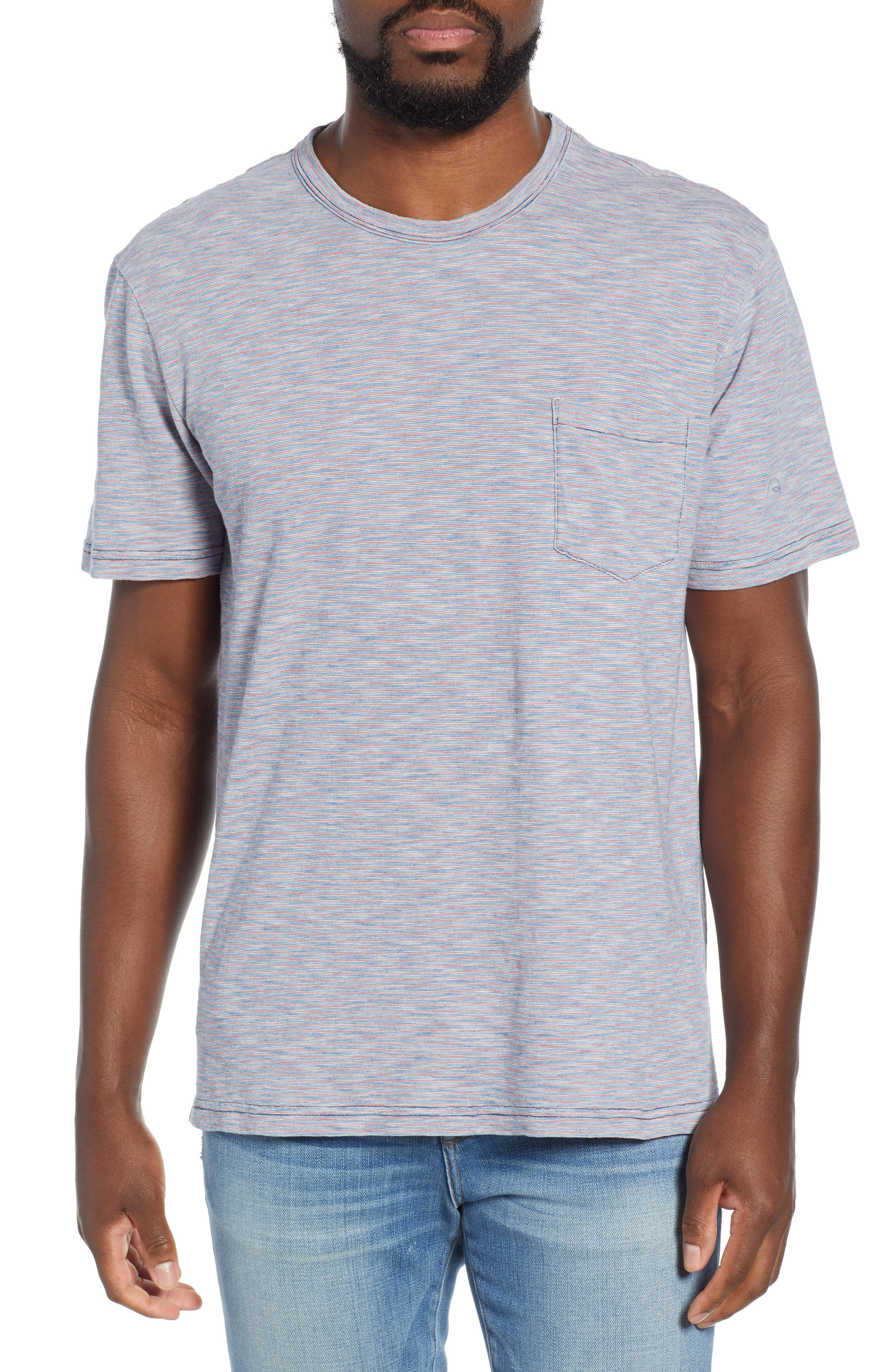 Faherty Stripe Pocket T-Shirt