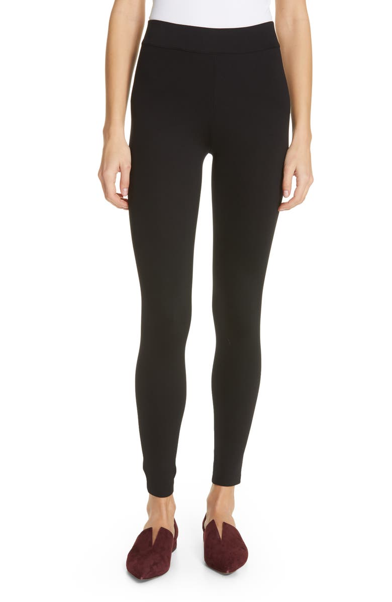 VINCE Stretch Leggings, Main, color, BLACK