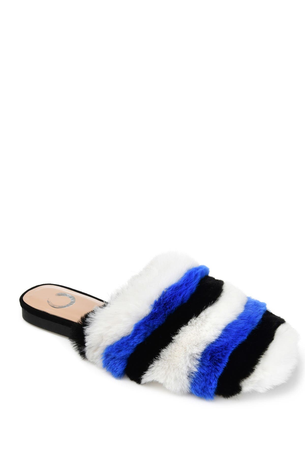 Image of JOURNEE Collection Evelin Faux Fur Mule