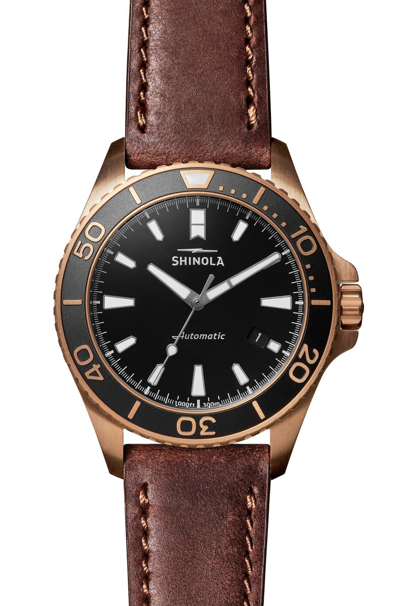 SHINOLA Monster Automatic Strap Watch, 43mm, Main, color, 200