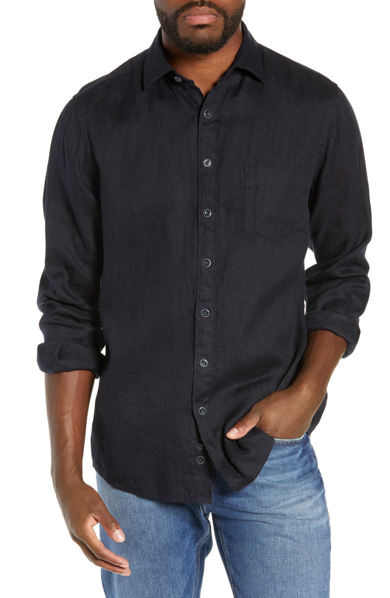 RODD & GUNN Tindalls Beach Regular Fit Linen Sport Shirt, Main, color, 412