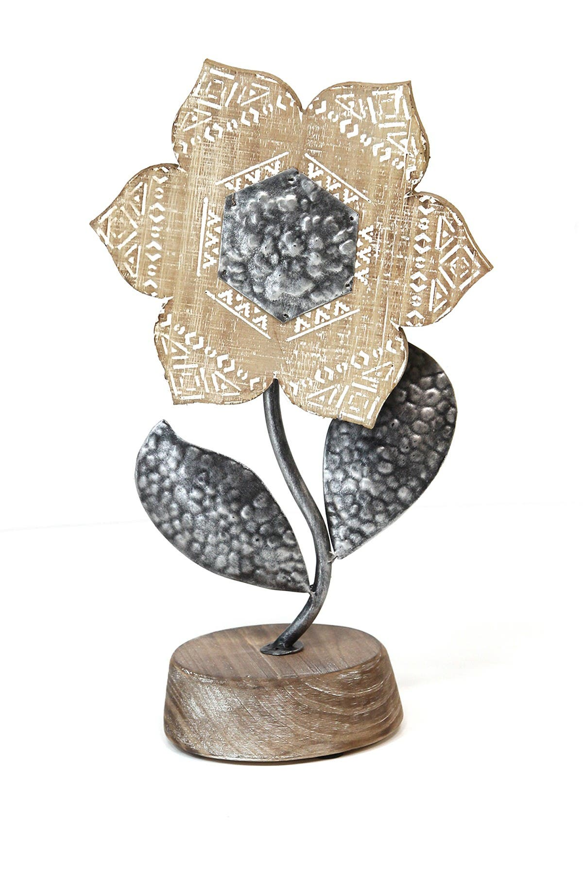 Stratton Home Natural Wood/Grey Boho Tabletop Flower at Nordstrom Rack
