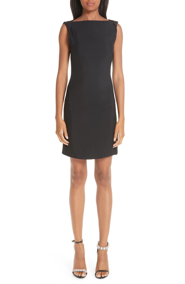CALVIN KLEIN 205W39NYC Open Back Cady Dress, Main, color, 001