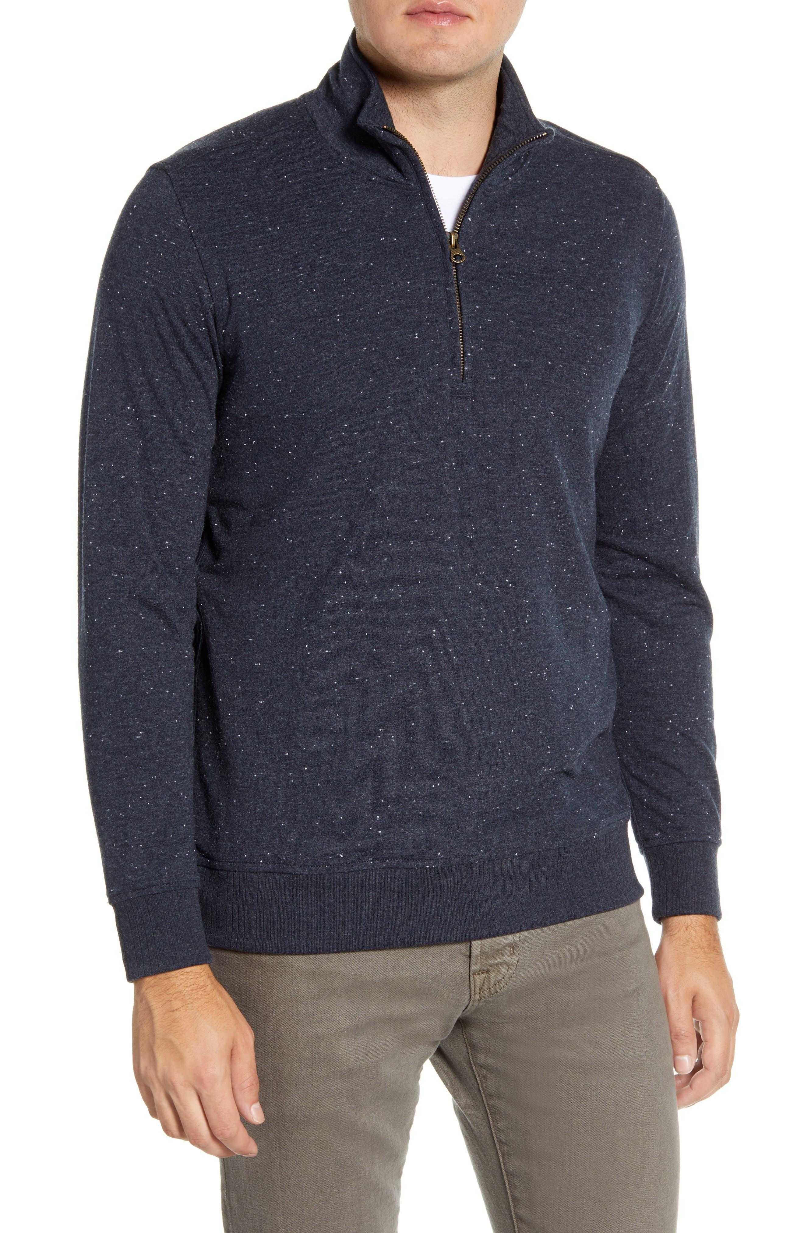 Cotton Blend Quarter Zip Pullover