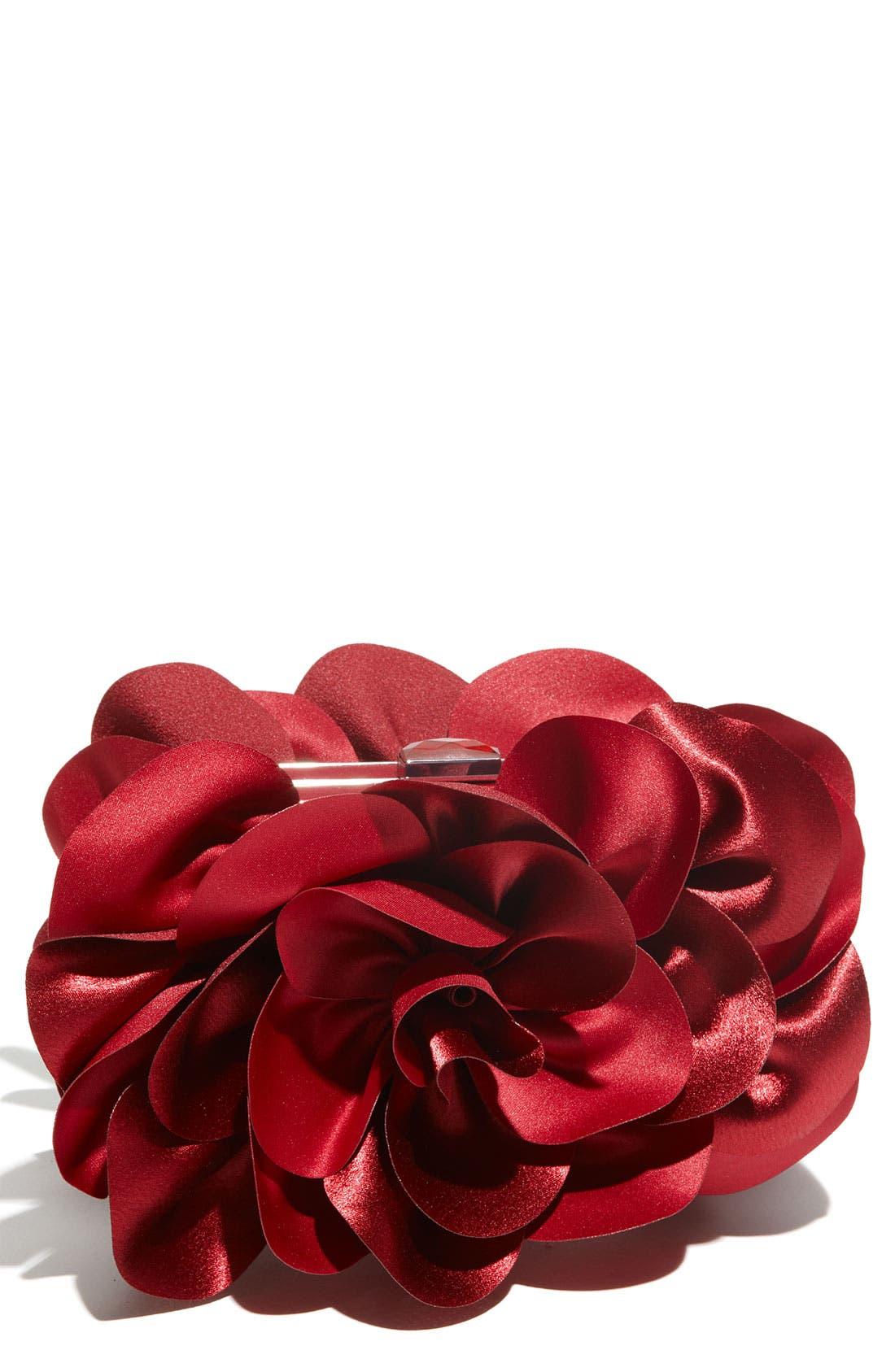 ,                             'Rose' Satin Box Clutch,                             Main thumbnail 31, color,                             931