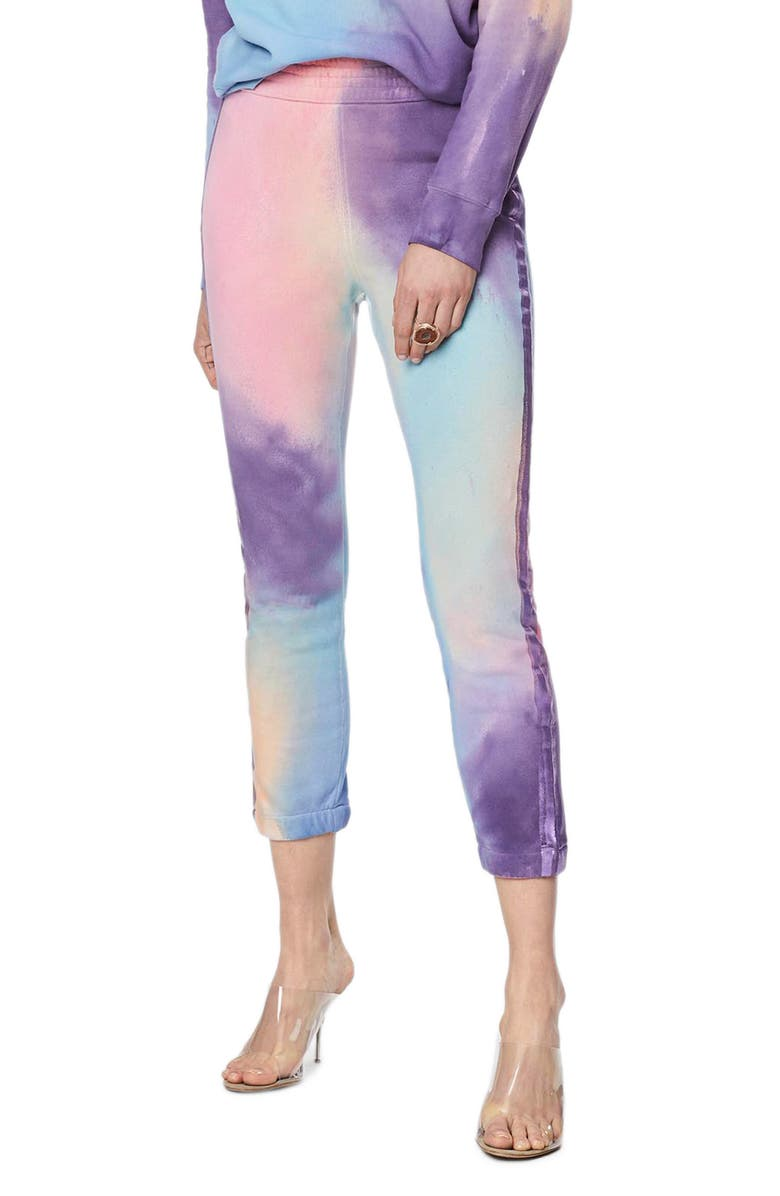 MOTHER The Springy Lounger Tie Dye Ankle Pants, Main, color, LETS GET METAPHYSICAL