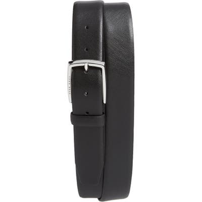 Boss Celie Saffiano Leather Belt, Black