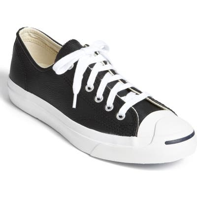 Converse Jack Purcell Leather Sneaker, Black