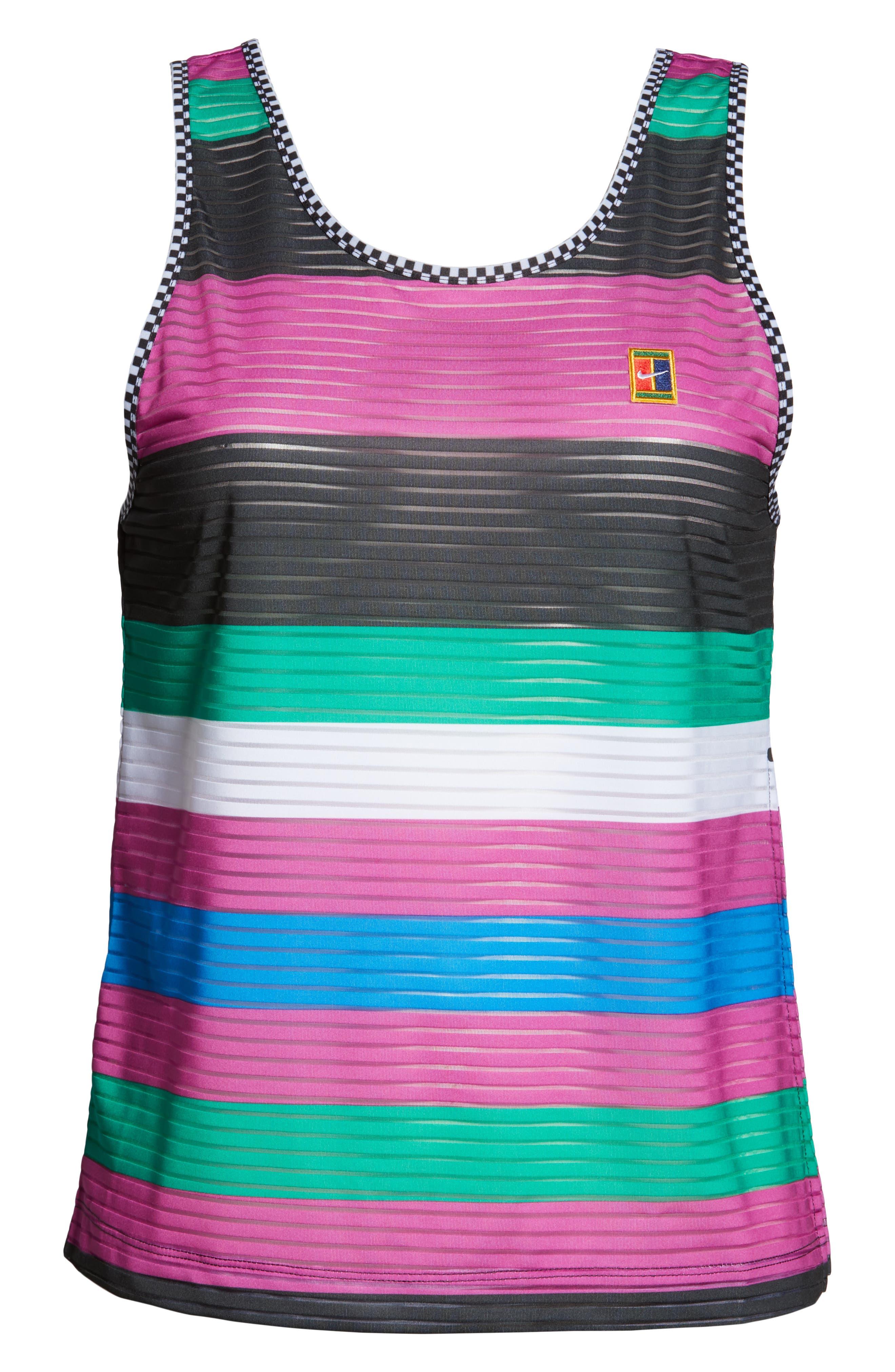,                             Court Dri-FIT Tennis Tank,                             Alternate thumbnail 7, color,                             ACTIVE FUCHSIA/ BLACK/ WHITE